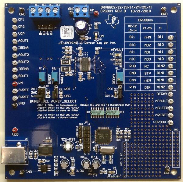 drv8813evm:用于 drv8813 的评估模块